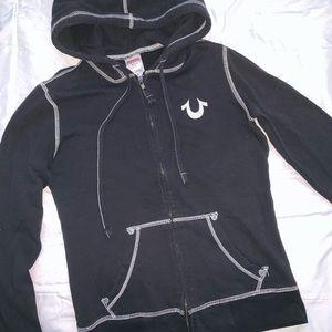 True Religion Zip Hoodie Black